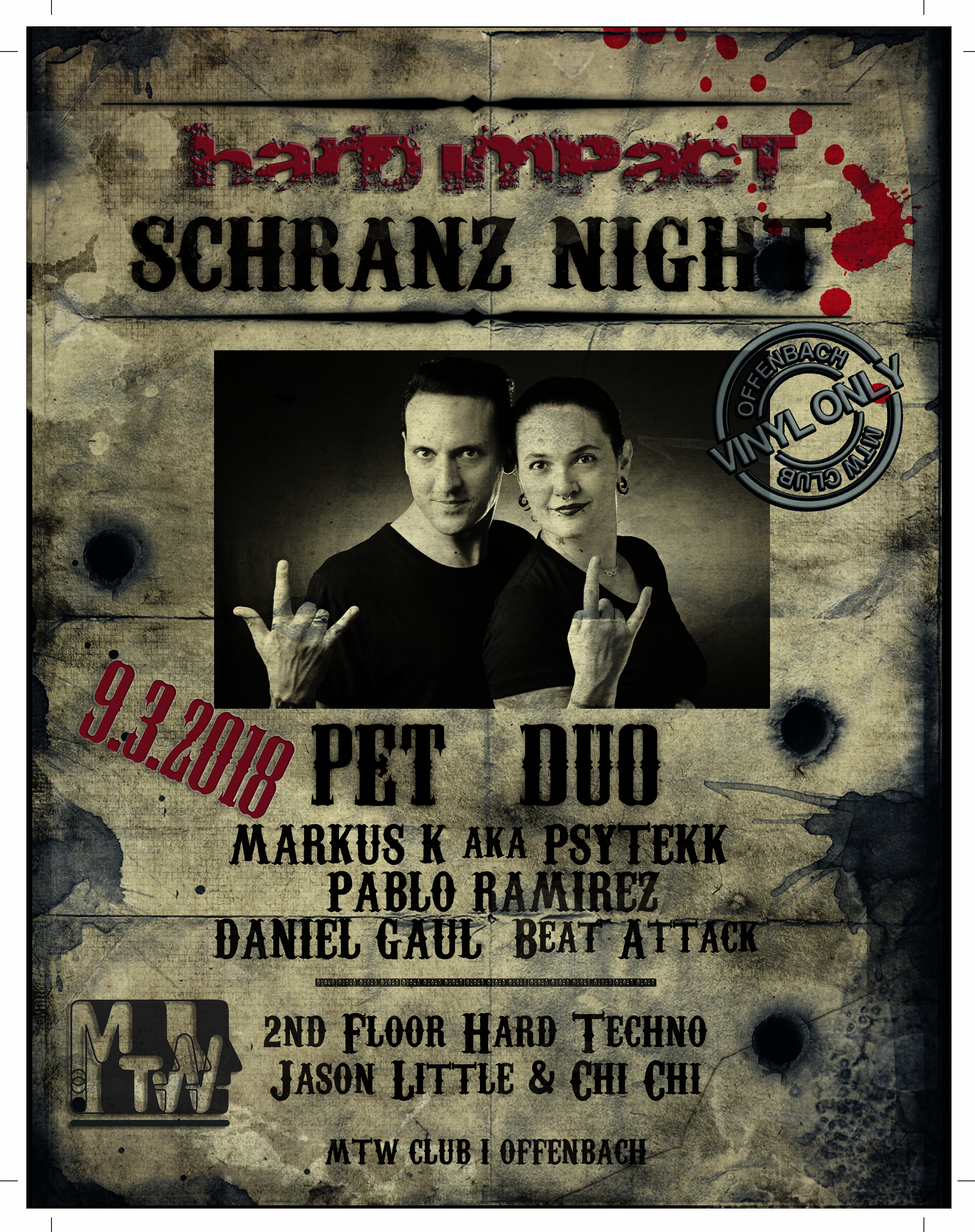 Hard Impact Schranz Night mit Pet Duo